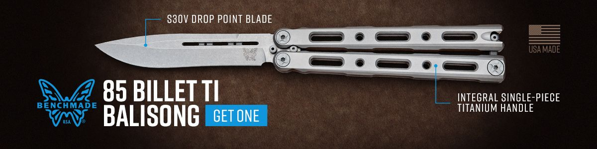 Shop for the Benchmade 85 Billit ti Balisong Butterfly Knife