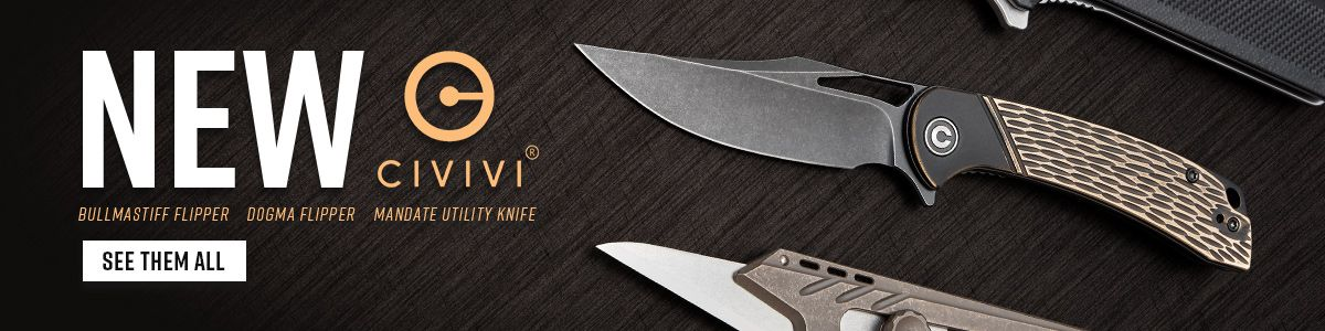 Shop for CIVIVI Dogma and Bullmastiff Flippers, and Mandate Utility Knives