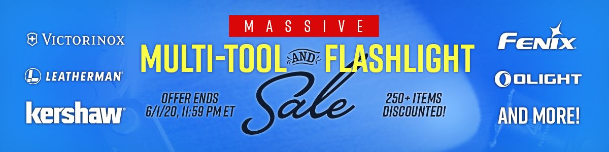 Shop Our Massive Flashlight and Multi-Tool Sale