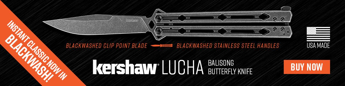 Shop for the Blackwash Kershaw Lucha Balisong