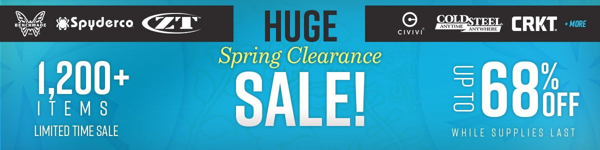 Shop Our Huge Spring Clearance Sale