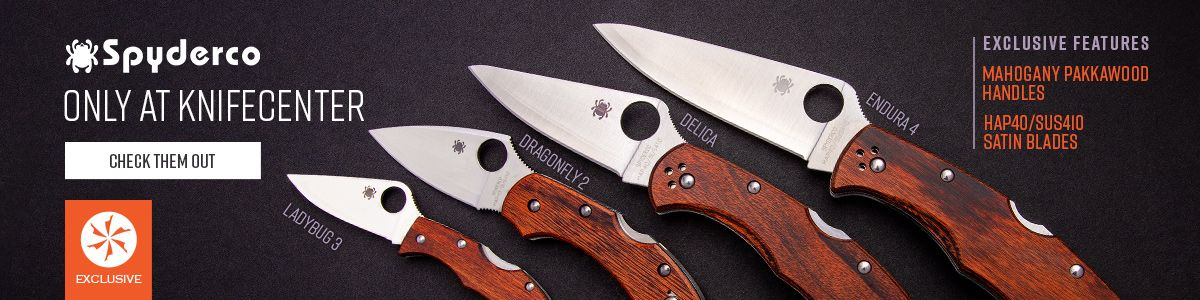 KnifeCenter Exclusive Spyderco Knives