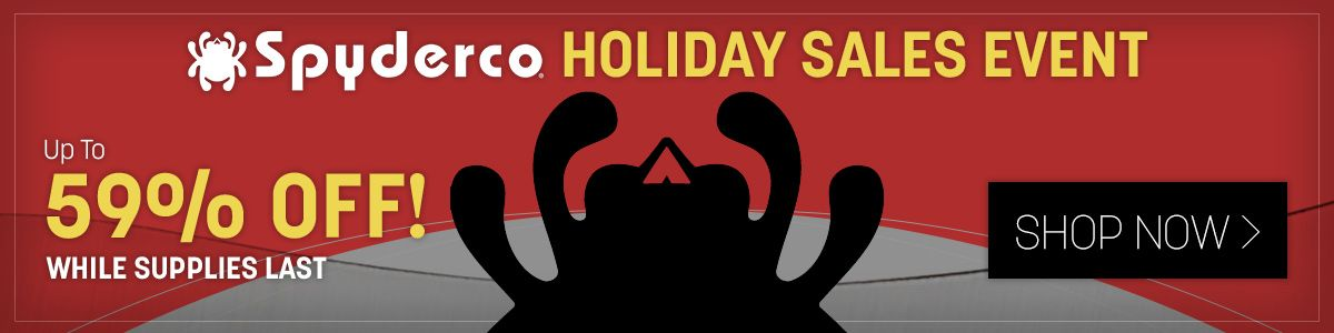 Shop Our Spyderco Pre-Black Friday Sales Event