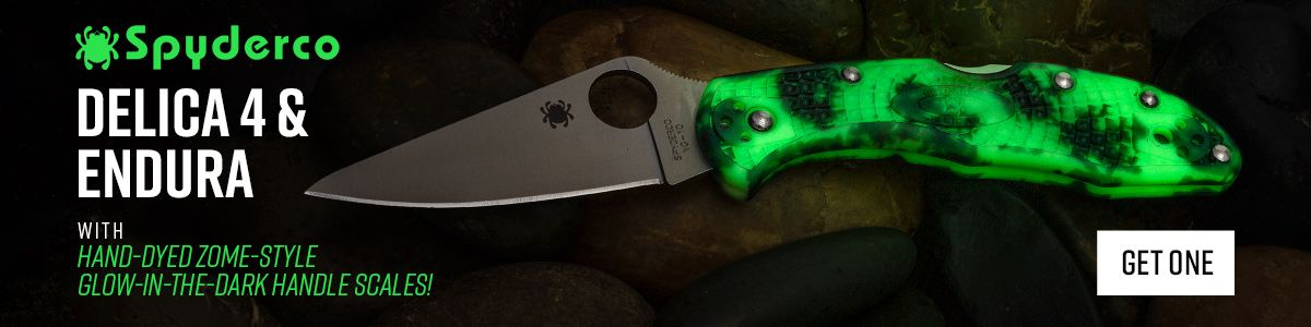 Shop for Glow-in-the-Dark Spyderco Delica and Endura