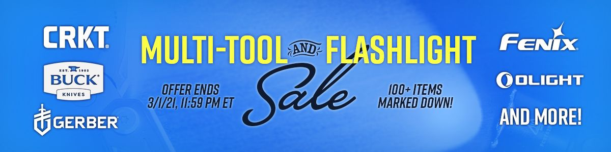 Shop Our Massive Multi-Tool and Flashlight Sale!