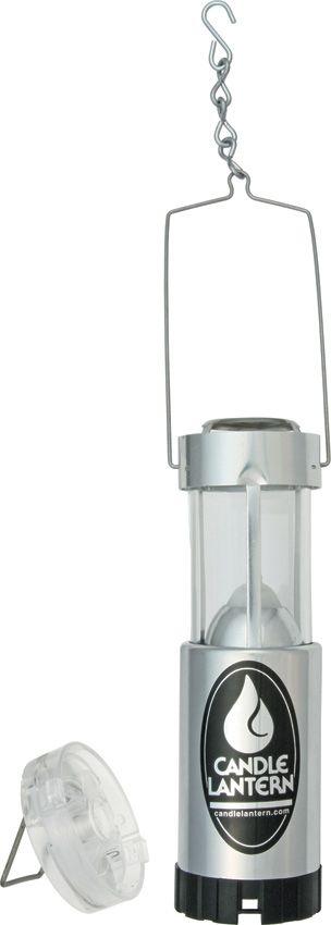 UCO Original Candle Lantern Plus LED, Silver Aluminum, 30 Max Lumens