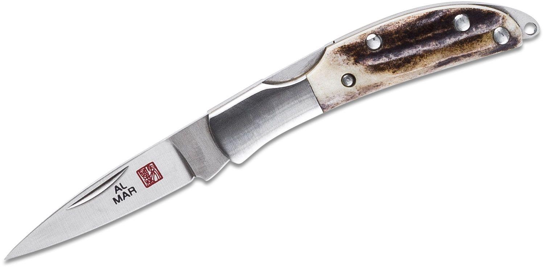 Al Mar Japan 1001ST Osprey Classic Folding Knife 1.65 inch Blade, Stag Handles
