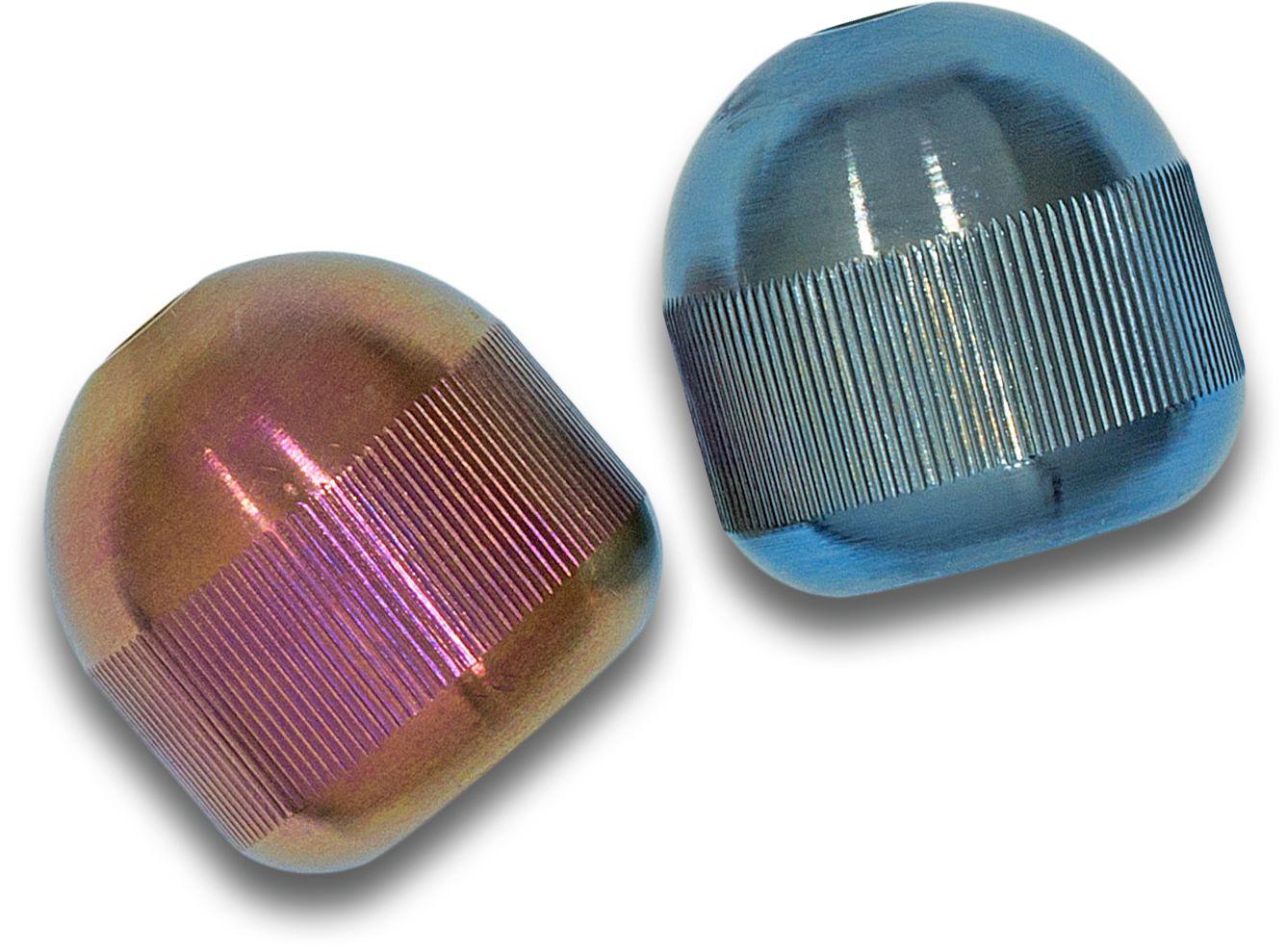 Aroundsquare AO2 Customized Titan Begleri, Blue and Pink Grahamodized
