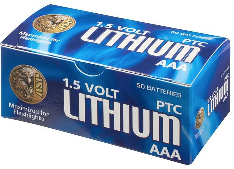ASP AAA Lithium Batteries, 50 Pack