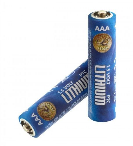 ASP AAA Lithium Batteries, 2 Pack