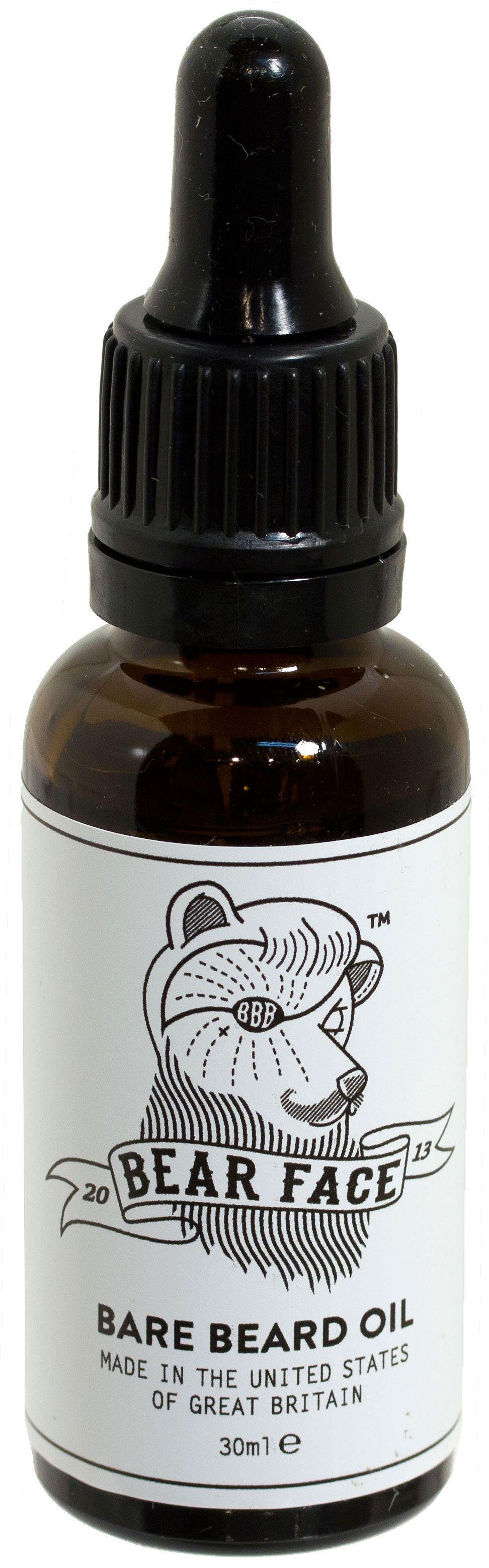 Bear Face Bare Beard Oil for All Faces, 30ml Eye Dropper Bottle