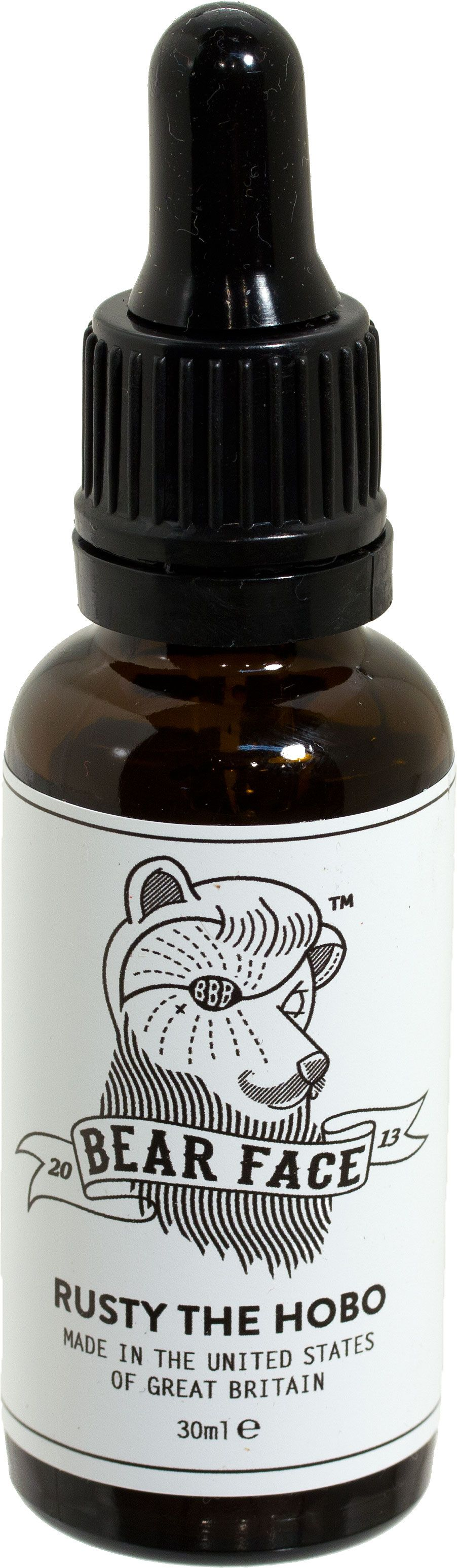 Bear Face Rusty Beard Oil for Acne and Problem Faces, 30ml Eye Dropper Bottle