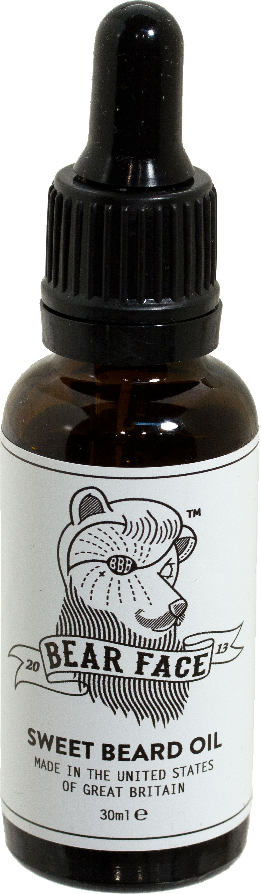 Bear Face Sweet Beard Oil for All Faces, 30ml Eye Dropper Bottle