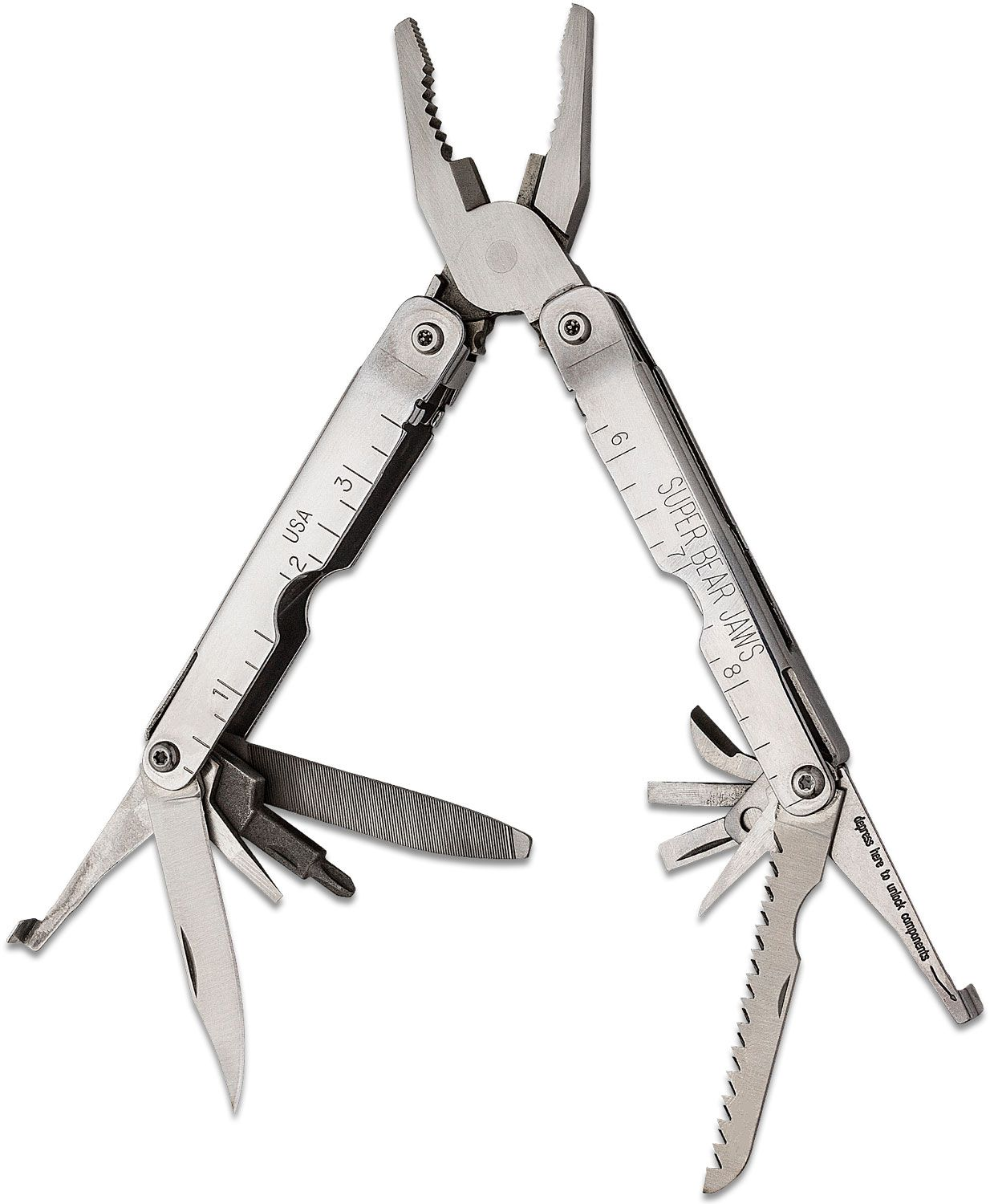 Bear & Son Super Bear Jaws Locking Components Multi-Tool 4-1/2 inch Closed
