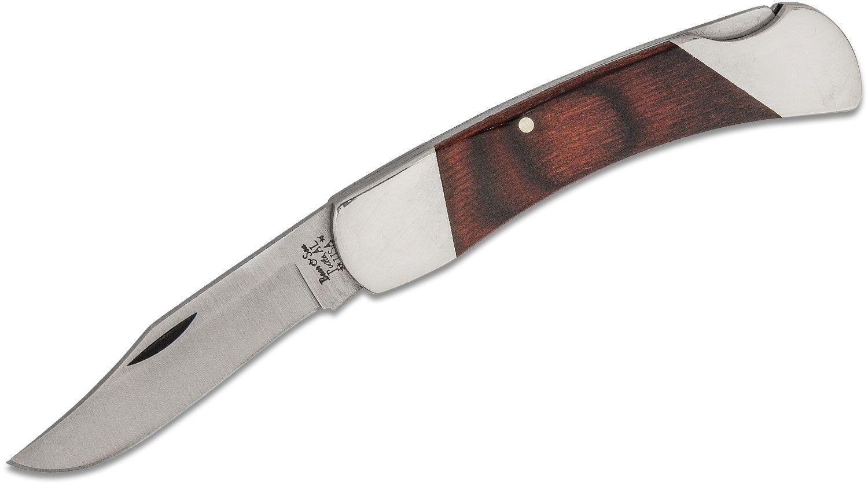 Bear & Son 205RC Midsize Lockback Folder 2.75 inch Plain Satin Blade, Rosewood Handles