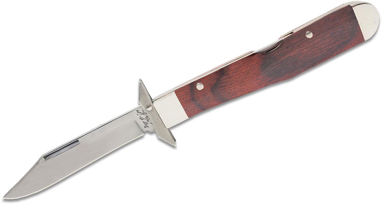 Bear & Son Swing Guard Lockback Folding Knife 3 inch Clip Point, Rosewood Handles