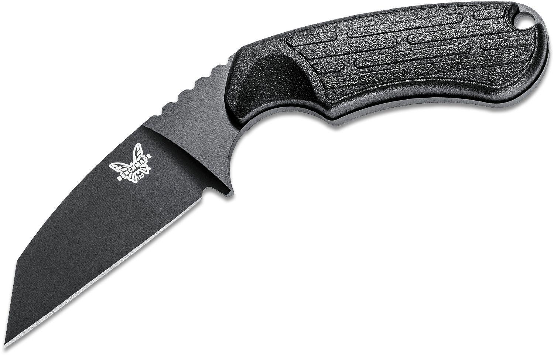 Benchmade 125BK Azeria Fixed 2.9 inch N680 Black Plain Blade, Black Grivory Handles