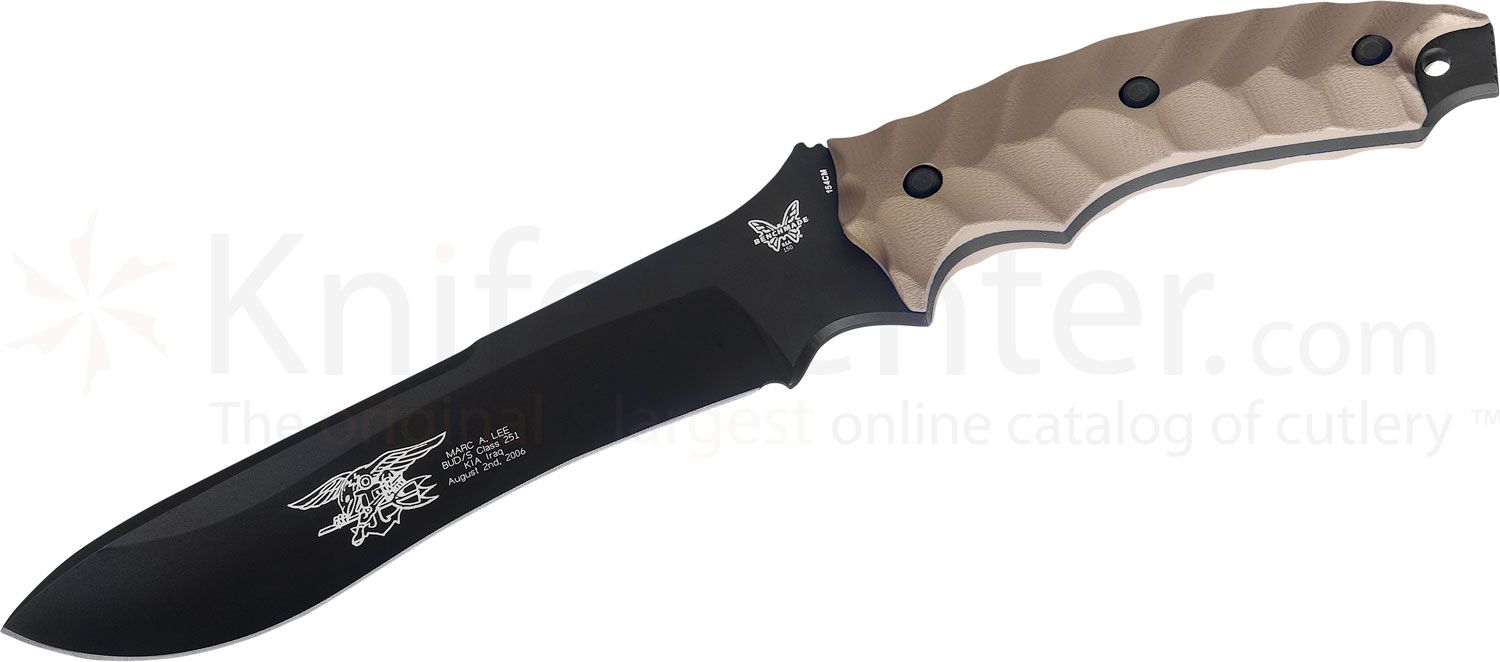 Benchmade Marc Lee  inchGlory inch Commemorative Combat Knife 7.3 inch Black Plain Blade