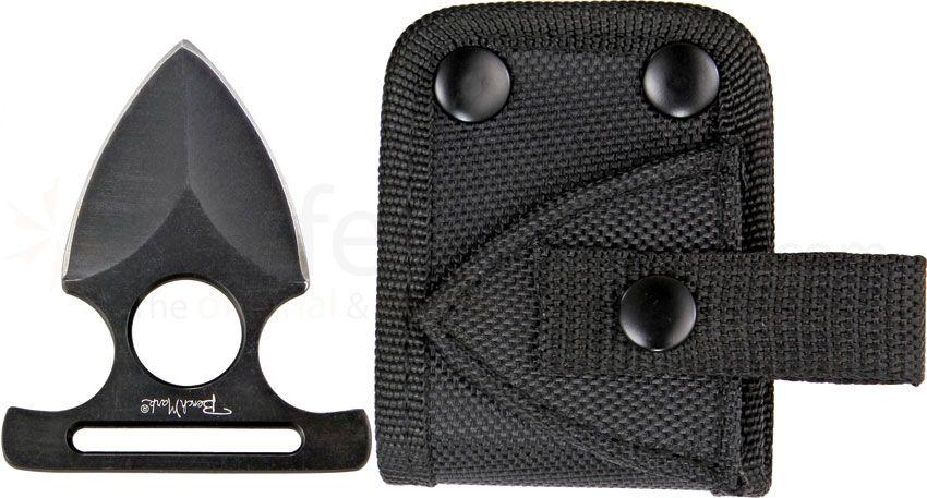 Benchmark Black Push Dagger, 2-3/4 inch Overall Length, Nylon Belt Sheath
