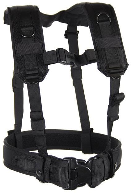 BLACKHAWK! Load Bearing Suspenders, Black