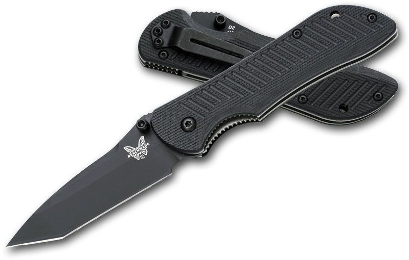 Benchmade Mini-Nitrous Stryker Assisted 3 inch Black Tanto Plain D2 Blade