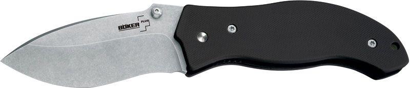 Boker Plus Jim Burke Mini Resurrection Folding Knife 3-3/4 inch Stonewash Blade, G-10 Handles