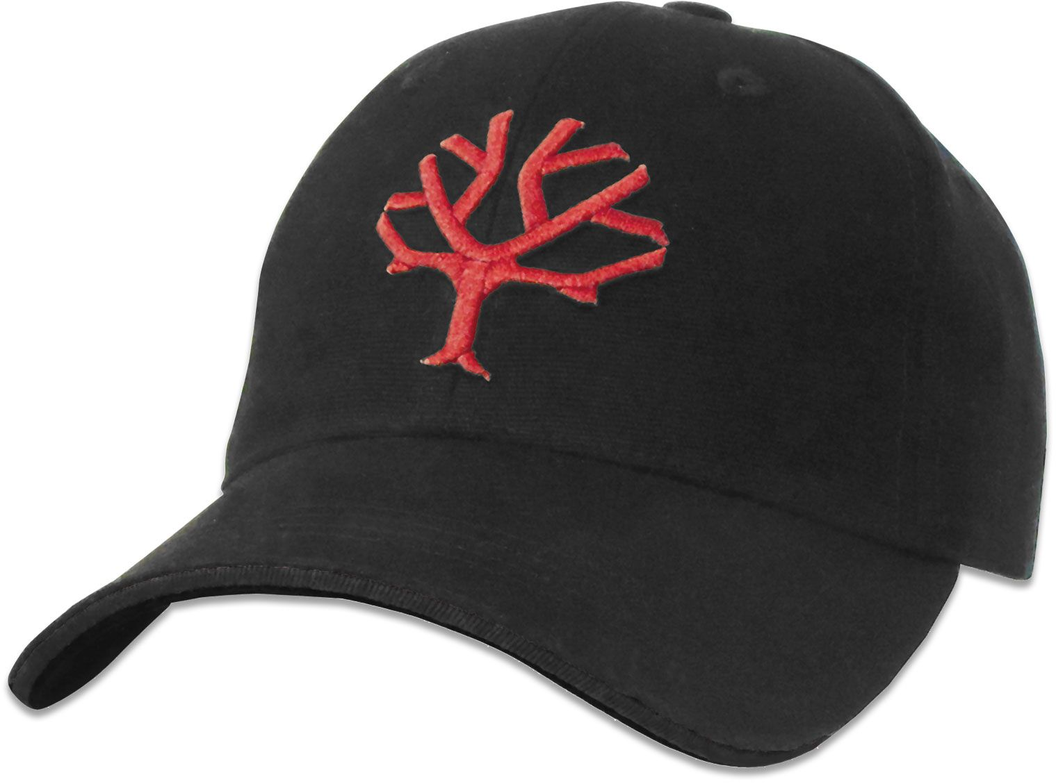 Boker Velcro Cap, Black with Red Tree Brand Logo