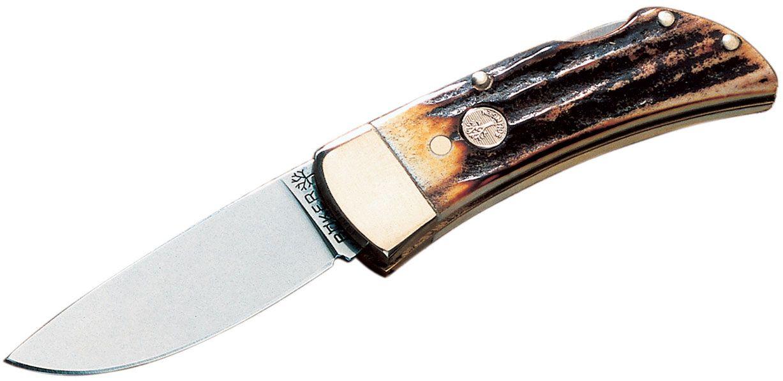 Boker Lockback Folding Knife 2 inch Blade, Stag Handles 111006