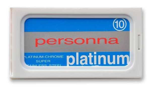 Boker Personna Platinum Red Double Edge Replacement Safety Razor Blades, 10 Pack