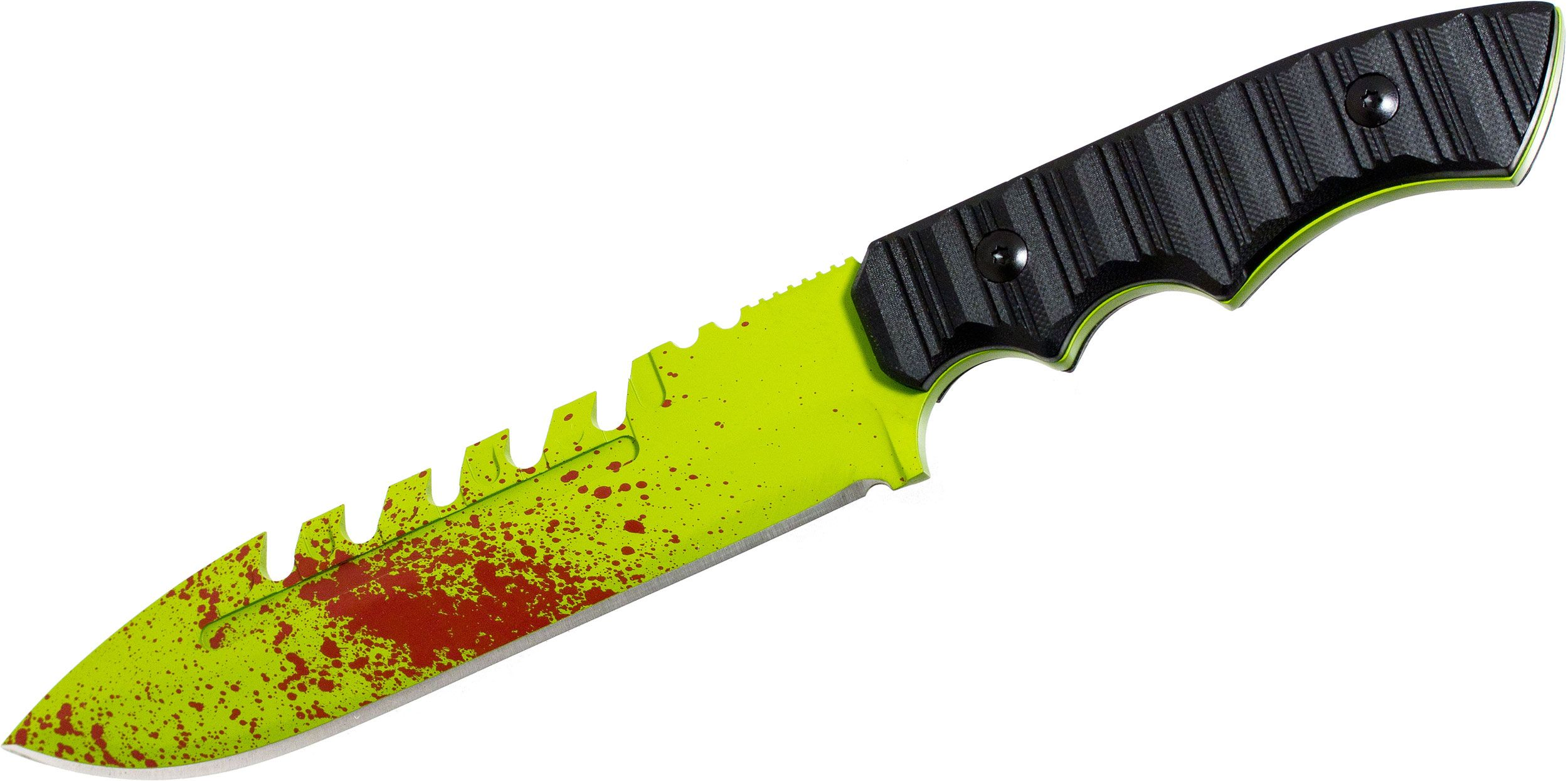 Brous Blades Limited Edition Zombie Green Coroner Fixed 6.25 inch D2 Blade, G10 Handles, Kydex Sheath