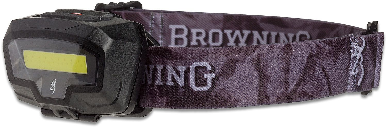 Browning Night Gig LED Headlamp, Black Polymer Body with Camo Strap, 485 Max Lumens