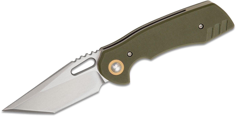 BRS Bladerunners Systems E-Volve Nova Blades Nomad Folding Knife 3.25 inch S35VN Stonewashed Blade, Green G10 Handles