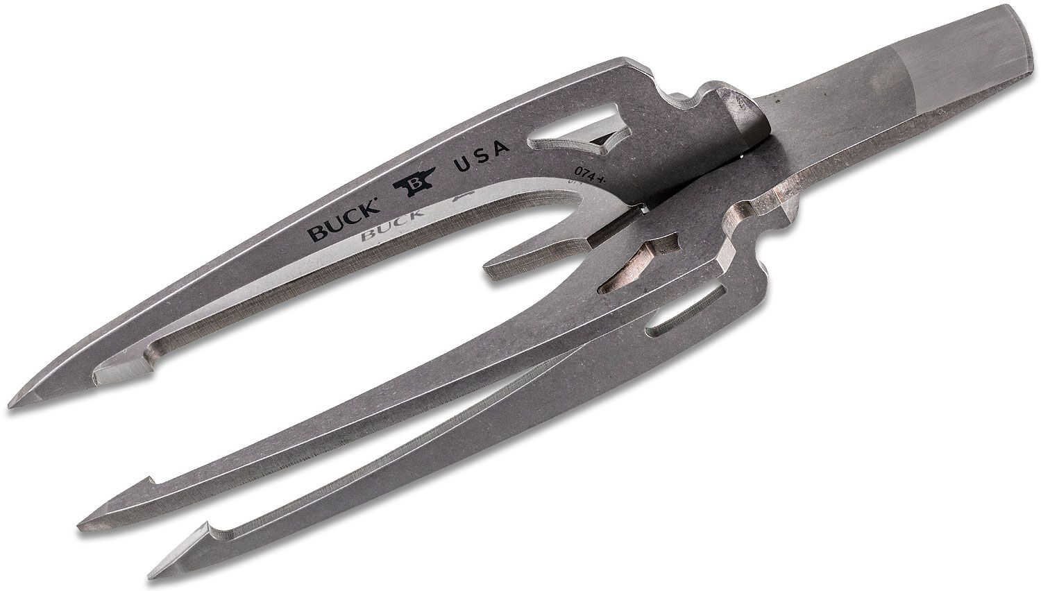 Buck 074 Kinetic Fishing Spearhead, Four Tines, 9 inch Overall