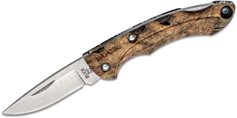 Buck 283 Nano Bantam Folding Knife 1.875 inch Blade, Mossy Oak Country Break-Up Camo ETP Handles