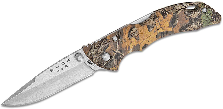 Buck 284 Bantam BBW Folding Knife 2-3/4 inch Blade, RealTree Xtra Camo Nylon Handles