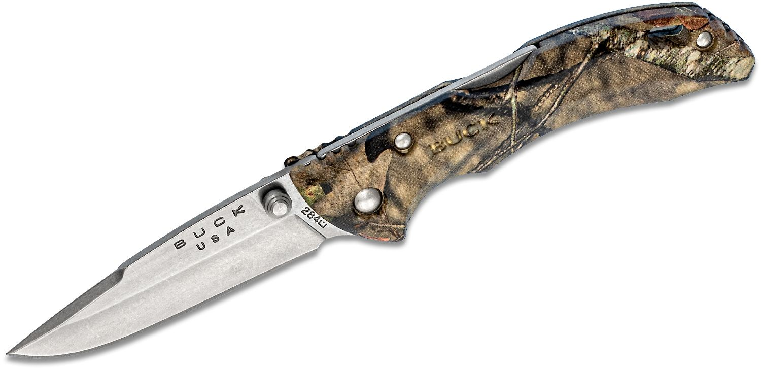 Buck 284 Bantam BBW Folding Knife 2.75 inch Blade, Mossy Oak Break-Up Country Camo ETP Handles