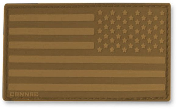 Cannae Pro Gear USA Velcro Patch, Right Arm, Coyote