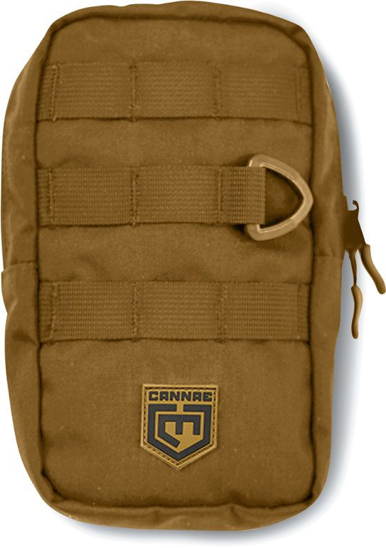Cannae Pro Gear 9 inch x 6 inch EDC MOLLE Pouch, Coyote