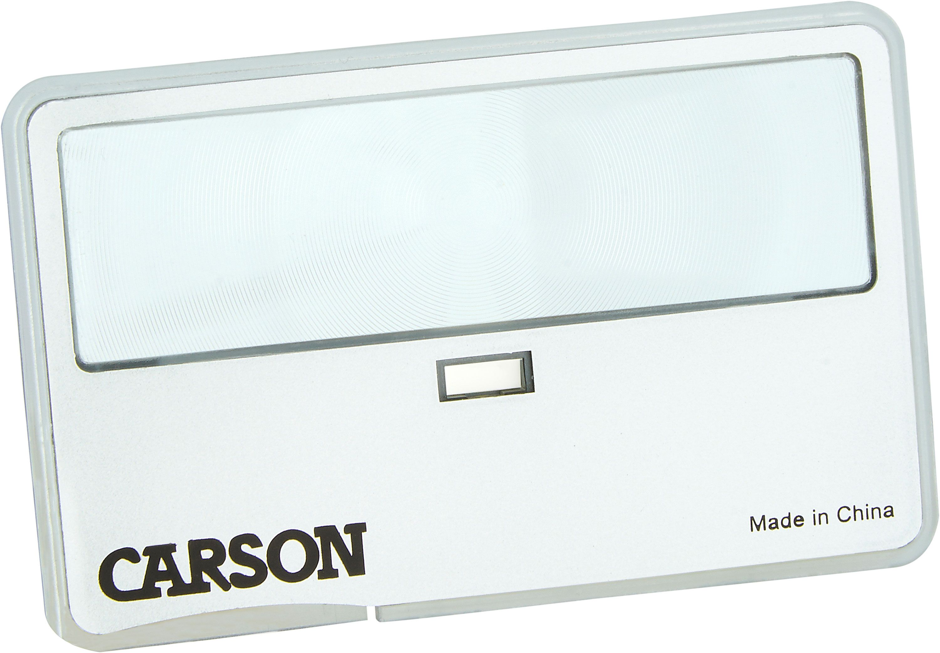 Carson Optical MC-99 MagniCard, Credit Card Sized Magnifier with LED Light