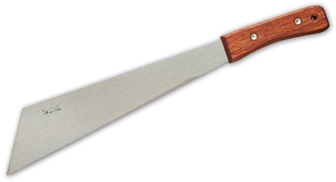 Okapi Corn Knife 14.5 inch 1055 Carbon Blade, Wood Handle, No Sheath