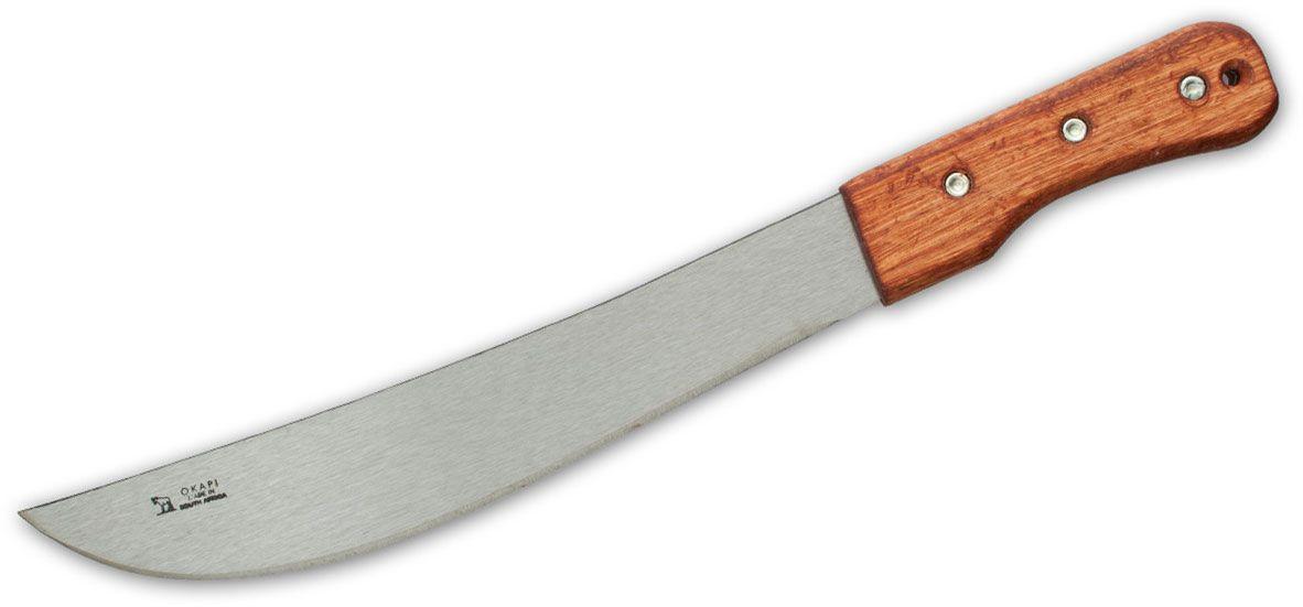Okapi Machete 12.75 inch 1055 Carbon Blade, Wood Handle, No Sheath