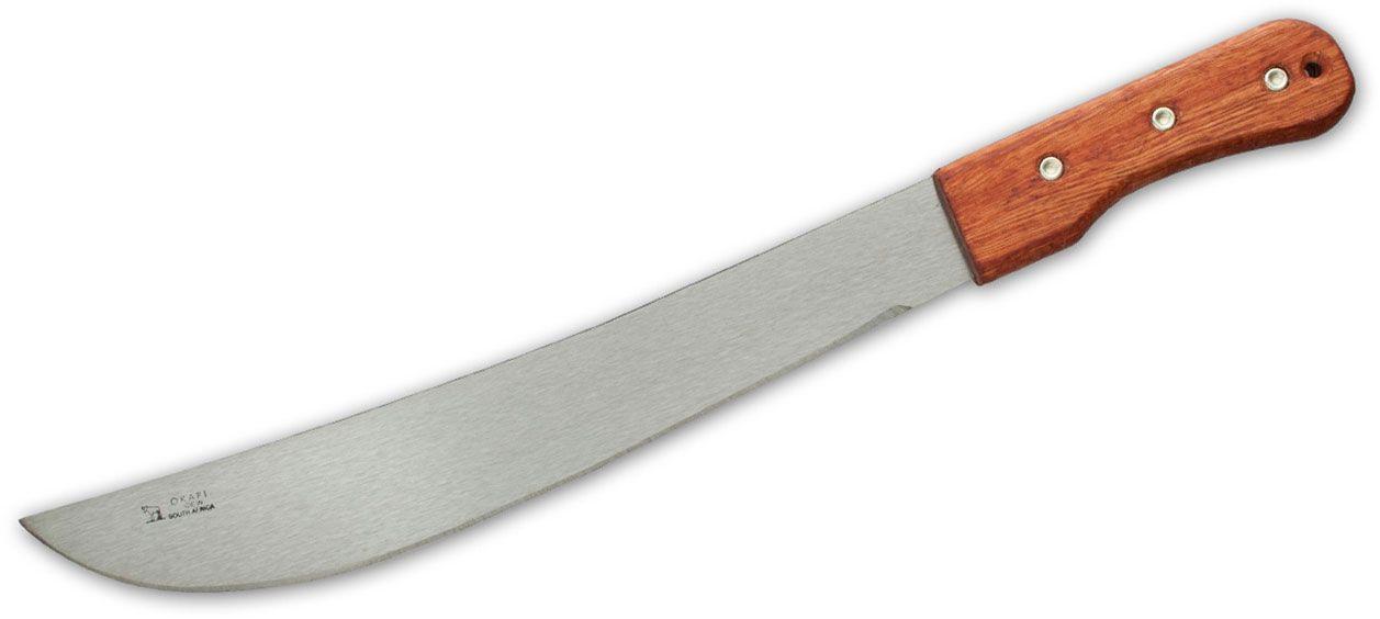 Okapi 14.75 inch Bush Knife, Wood Handle, No Sheath