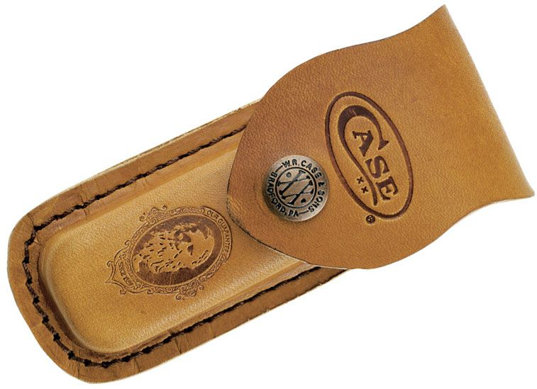 Case Medium Job Case Leather Sheath, Brown, 5 inch Closed