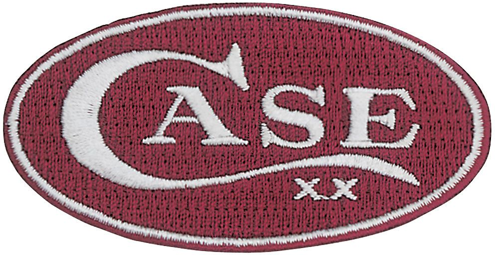 Case Red Oval Patch 1031