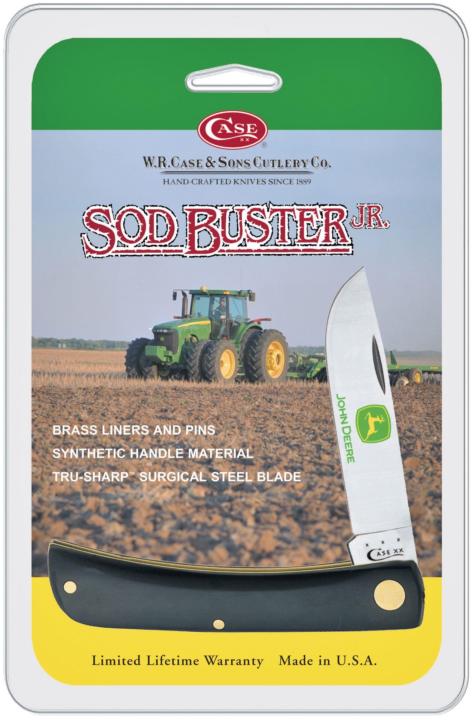Case John Deere Black Synthetic Sod Buster Jr 3-5/8 inch Closed (2137 SS)