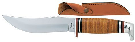 Case 5.0 inch Fixed Blade Leather Handle and Sheath 9 inch overall 323 5 SS
