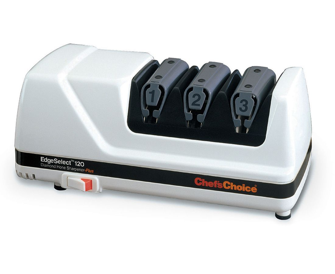 Chef's Choice EdgeSelect Deluxe 3 Stage Electric Diamond Sharpener Model 120, White
