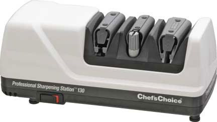 Chef's Choice Professional Sharpening Station Electric Knife Sharpener Model 130, White