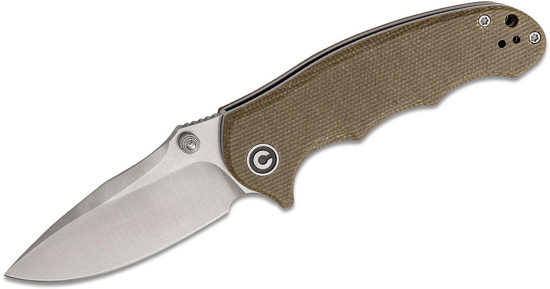 CIVIVI Knives C913A Hooligan Folding Knife 2.98 inch D2 Satin Blade, Dark Earth Micarta Handles