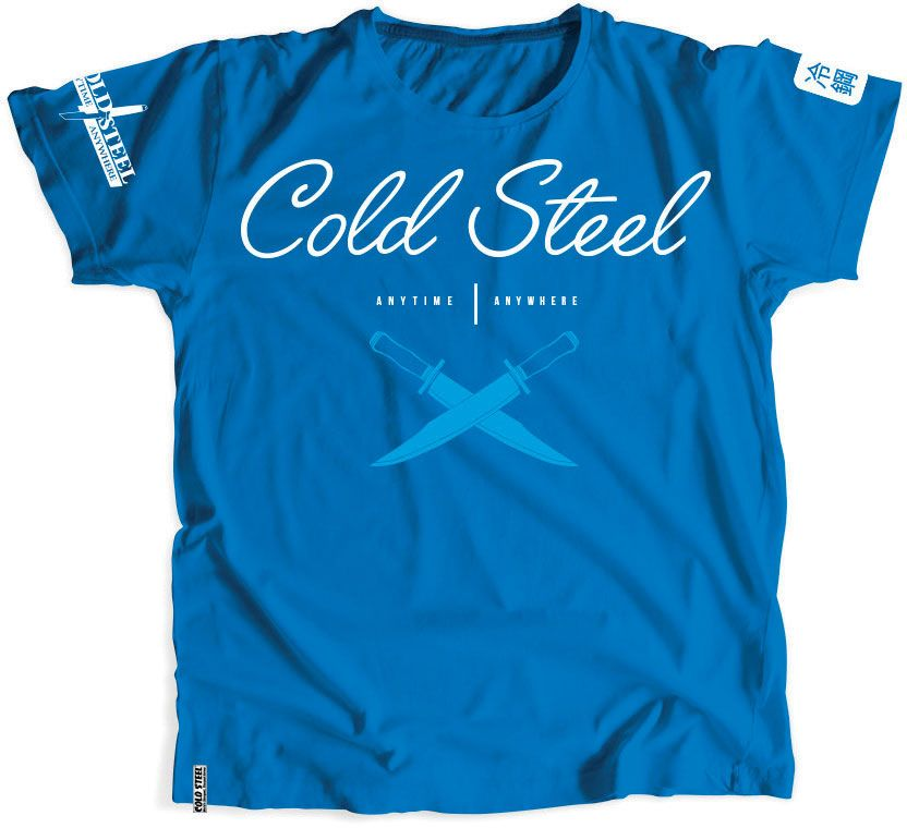 Cold Steel TK3 Women's Blue T-Shirt - Cross Guard, L